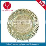 cheap glass beaded charger plate wholesale                                                                         Quality Choice