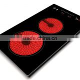Chinese factory recommend, Outdoor, Kitchen, household, home equipment, 2 burner infrared/ceramic cooker, stove, cooktop