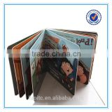 Children thick paper book printing, cartoon picture children story book printing, die cut children book printing