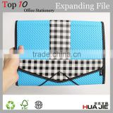 expandable accordion file with elastic expanding file pocket document file bag with fastener
