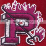 letter p embroidery badges iron on custom baseball cap