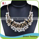 Black And White Colored Multilayer Beaded Necklace