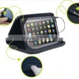 black color shockproof 7 inch music tablet sleeve bag music speaker handbag for ipad 7inch tablet and stand holder