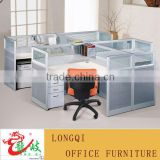 modern nice design high quality glass top modular office partition workstation office furniture call center cubicle