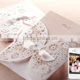 wedding card/wedding invitation/wedding invitation card with posterQR mobile invitation solution