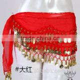 belly dancing hip scarf chiffon 128 coins sexy belly dance coin belt