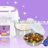 Newest Portable Intelligent Multi-functional Electric Heating Food Warmer And Steamed Lunch Box