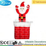 DJ-222 4ft-8ft inflatable outdoor christmas santa claus Chimney decoration up and down movement