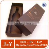 cardboard pu leather wine carrier box with logo