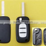 Replacement flip key case For Renault Clio Megane Laguna 3 button remote folding key blank