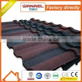 2015 best selling anti-uv colored Wanael stone coated steel roof panel/heat insulation for cement roof