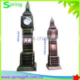 2size of metal gift london souvenir big ben clock model craft