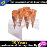 Factory wholesale acrylic ice cream cone display case                                                                                                         Supplier's Choice