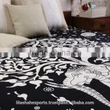 Indian 522 online- wholesale-tapestry 100% cotton wall hanging bedspread black/white India Printed Mandala throw Tapestries