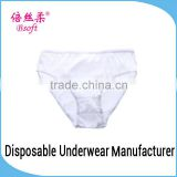 Travel Sterile Girls In White Panties Disposable Kids Underwear