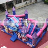 Hot sale princess inflatable castle obstacle course for sale, kids inflatable obstacle games