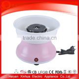 Portable nice quality cute pretty pink flower cotton candy machine