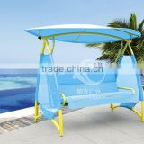 new product blue swing chair outdoor garden rocking chair with canopy high quality popular style