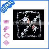 Pirate headband wholesale square hip hop hairband promotional fashion cotton skull bandana