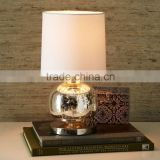 11.22-15 shapely glass sphere is a glamorous statement piece on desks Mercury Mini Abacus Table Lamp