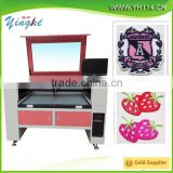 laser cutter machine for fabric textile/hot sale garments trademark lable flag located positioned CO2 laser cutting machine