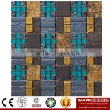 IMARK Electroplated Color Glass Mix Ceramic Mosaic Tiles (IXGC8-095) for back splash mosaic wall art