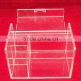 Clear PMMA Tea/Office Organizer Box