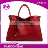 Elegant luxury authentic top grain cowhide women tote handbag from Alibaba China manufacturer