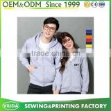 Customized Couple Plain Hoodie No Label Blank With Your Own Design Hoodies Sweatshirt Factory Price