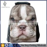 Cute animal belldog felt backpack of a multifunctional environmental Amazon student bag factory direct