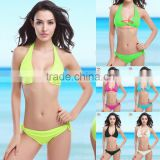 Bikini poly chest swimming suit with 2016 new sizes bra swimsuit multicolor fluorescence