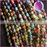 5-6mm Natural colorful Freshwater pearls AAA grade baroque Pearls