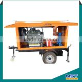 Portable diesel engine suction irrigation pump