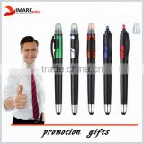 fashion design double tips water color and stylus touch pen