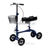 HomCom Steerable Knee Walker Scooter w/ Basket - Blue