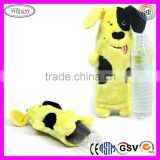 C242 Bottle Buddies Dog Plush Chew Toys Water Bottle Large Multicolor Soft Drink Bottles