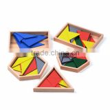 Wooden toy Montessori set Constructive Triangles With 5 Boxes