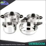 Made In China Elegance and high quality cookware elegant kitchen sets 555 stainless steel stock pot