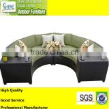 Outdoor Furniture Modern Sofa Set Design Half Moon Sofa With Cup Table