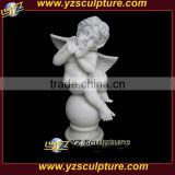 Little white Marble Statues Angels Cherub with wings