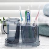 Fashion And Best Quality Plastic Bathroom Set Toothbrush Holder Toothbrush Cup Combination Bathroom Set Toothbrush Holder
