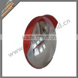 Convex road safety mirror