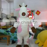 Strawberry Drink Milk Cow Mascot Costumes/Fur Plush Cow Mascot