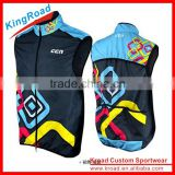 New style OEM fully sublimation printing sports cycling wind breaker vest/sleeveless/gilets