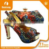 Good Quality Elegant African Shoes And Bag Fashion Features Women High-heel Shoes And Bag Set