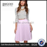 MGOO New Arrival 2015 Custom Made Chiffon Pink Pleated Skirts Summer A Line Fancy Long Skirts 15145B333