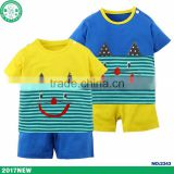 100% cotton caters children clothes hot selling short sleeve baby clothing for summer