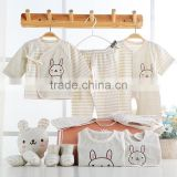 Wholesale Organic Cotton High Quality Spring Autumn 12pcs/Set Newborn Infant Baby Boy Girl Suits Baby Clothing Set Outfit