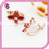 Rose gold coustum stone earring jewelry