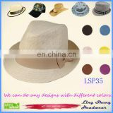 LSP35 Ningbo Lingshang Promotional Graceful Cream-colored Bowknot 100% Paper Straw cowboy hat
